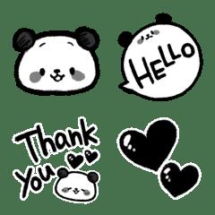 パンダのモノクロ絵文字
