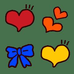 全11色・推し色ハート&リボン絵文字
