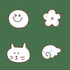 ホワイト&ドット絵文字