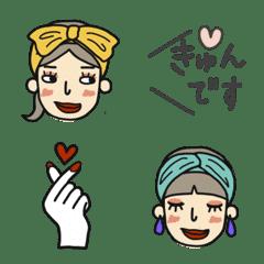 ターバン女子の絵文字
