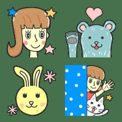 大人女子とモフれる獣たちの絵文字