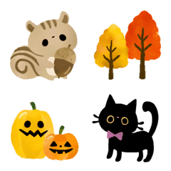 秋に使える色々絵文字