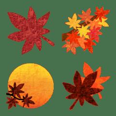 ◆紅葉だらけ◆ 秋 絵文字‼️