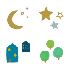 北欧風の水彩絵文字