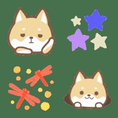 柴犬と絵文字*