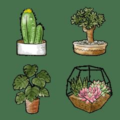 [ 観葉植物 ] みんなの絵文字 基本セット