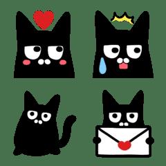 黒猫クロちゃんの毎日使える絵文字✨大和猫