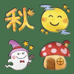 水彩えほん【秋編2】絵文字