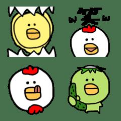 トリときどきカッパ♡絵文字【ゆるカワ】