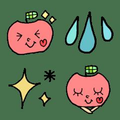 りんごちゃんとシンプル絵文字