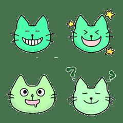緑の猫と日常絵文字