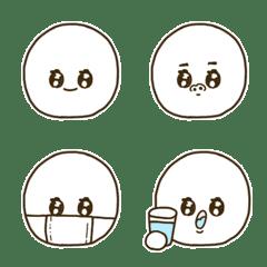 エモい目をしたシンプルまるい絵文字/基本1