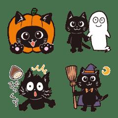 ハロウィンと黒ネコたち