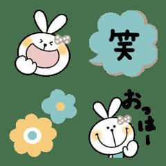 オトナ可愛い絵文字とうさぎちゃん