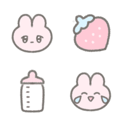 量産型うさぎ絵文字♡♡♡