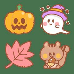 シンプルな秋の絵文字【ハロウィン】