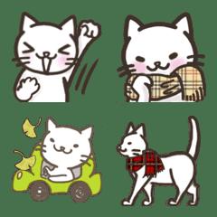 しろねこ 白ネコだらけの絵文字