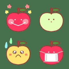 ゆるかわ!りんごさん絵文字