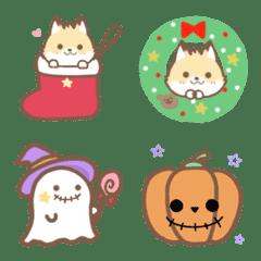 キツネと絵文字*(ハロウィン、クリスマス)