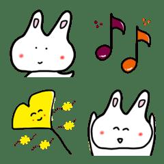 うさぽぃ 秋の絵文字