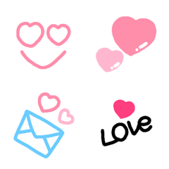 ハート&ピンクいっぱい♡かわいい絵文字
