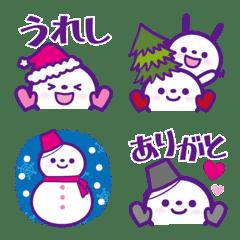 ★スノーマン★絵文字★冬【ver.1】