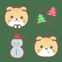 猫と冬の絵文字*