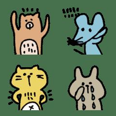 手描きアニマル♡絵文字【冬】