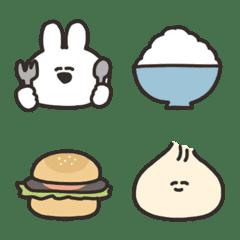うさちゃんとご飯の絵文字