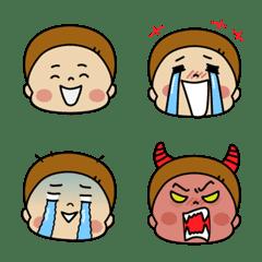 男児ママの実用絵文字 〜顔編〜