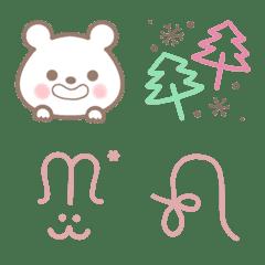 白熊とシンプル絵文字*
