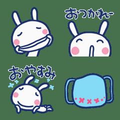 ゆるい☆ほぼ白うさぎ絵文字