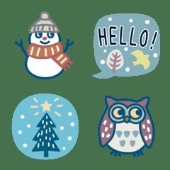 北欧風の冬の絵文字