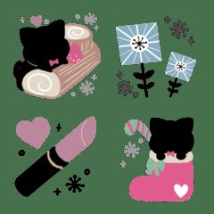 かわいい文末♦北欧風&黒猫絵文字6