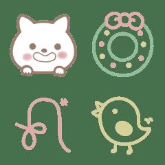 白猫とシンプル絵文字*