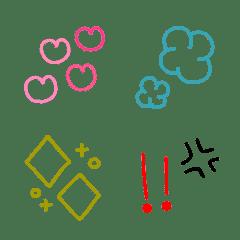 シンプル線画絵文字⁂