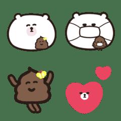 うんこちゃんとくまの絵文字(シンプル1)