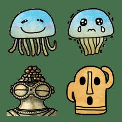 クラゲと土偶などが大好きな友人への絵文字