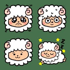 うるうるした目の羊ちゃん絵文字