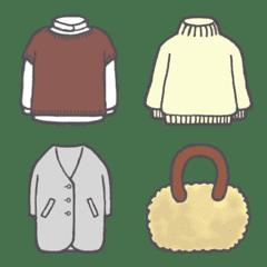 ファッション絵文字秋冬コレ