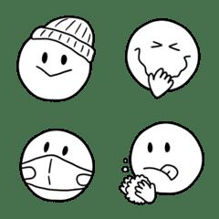 冬のシンプル線画♥️