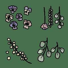 お花のある暮らし くすみカラー
