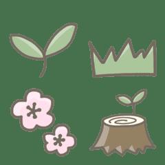 植物を生やせるゆるい絵文字