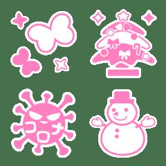 シンプル「ピンク」絵文字2
