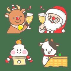 LINEを可愛く♡クリスマス&お正月冬絵文字