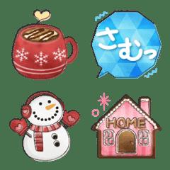 水彩えほん【冬編2】絵文字