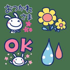 カラフル☆ほぼ白うさぎ絵文字