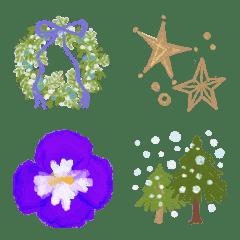 雪の宝石箱✳︎大人のナチュラル絵文字