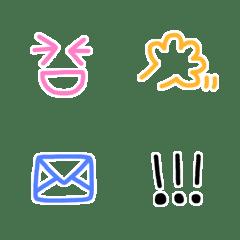 手書きシンプル顔絵文字