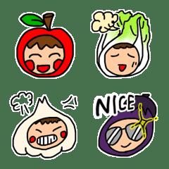 野菜くんと果物ちゃん